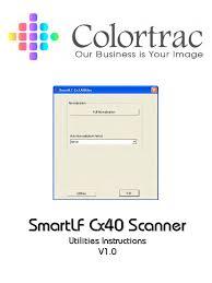 colortrac cx40 utilities service manual image scanner