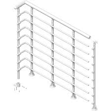 Lowes Stair Rails by Shop Dolle Oslo 3 5 Ft White Powder Coated Painted Steel Stair