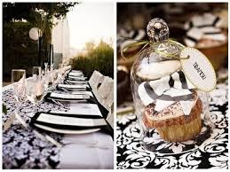 decoration mariage noir et blanc mariage baroque noir et blanc damask tendance boutik