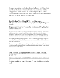Planning a trip to Singapore