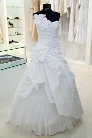 wedding dress on a mannequin in a bridal shop u2014 stock photo