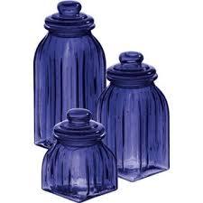 cobalt blue kitchen canisters cobalt blue canister set wayfair