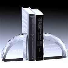 engraved bookends faceted bookends