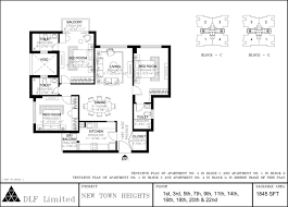 Dlf New Town Heights Sector 90 Floor Plan Dlf New Town Heights Kolkata Apartments U0027 Floor Plans