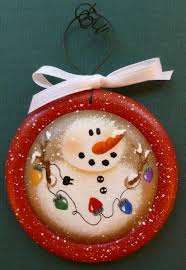 snowman light painted wood ornament diy and decor