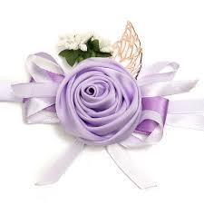 bridesmaid corsage bridal ribbon wrist flower bridesmaid corsage bracelet