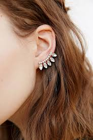 climber earrings delicate rhinestone ear climber earring outfitters