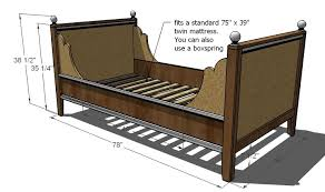 day bed plans ana white lydia daybed diy projects