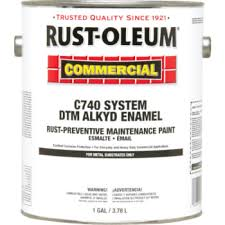 1 gallon rust oleum commercial dtm alkyd enamel paint safety