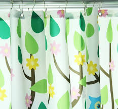 cartoon forest animals zoo shower curtains for kids extra long