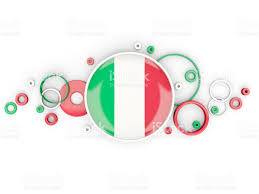 Flag Of Itali Round Flag Of Italy With Circles Pattern Stock Vector Art