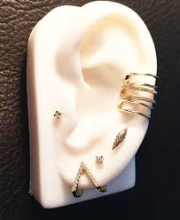 gold second studs micro pave dt cone single stud wendy nichol
