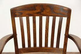 Sold Oak 1940 Vintage Swivel Adjustable Desk Chair Arms