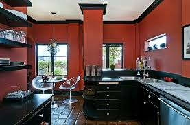 black white red kitchen abacud com