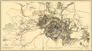 Atlanta Ga Map Civil War Map Atlanta Siege Of Georgia 1865