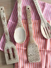 diy wood burned kitchen utensils ideas design with idolza