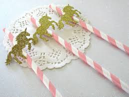 Pink And Gold Baby Shower Decorations by 12 Unicorn Party Straws Unicorn Party Decorations Pink And
