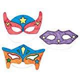 amazon com superhero masks craft kits makes 12 self adhesive