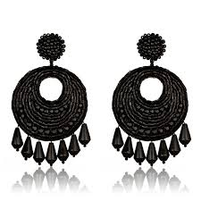 black earrings kenneth jet set black earrings hauteheadquarters