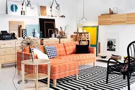 Orange Sofa Living Room Ideas Orange Sofa Interior Design