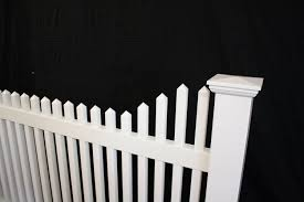 victorian stepped picket vinyl fence panel u2014 buyvinylfence com