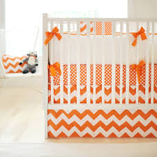 Zig Zag Crib Bedding Set Orange Ziggy Crib Bedding Set Rosenberryrooms Com