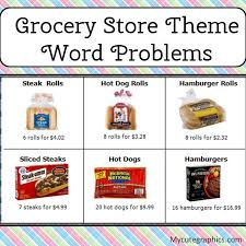 simone u0027s math resources word problems with a grocery store theme