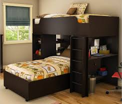 Single Bunk Bed With Desk 21 Top Wooden L Shaped Bunk Beds With Space Saving Features