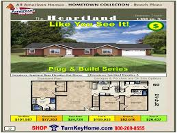 Home Building Plans And Prices by Heartland All American Modular Home Ranch Hometown Collection Plan