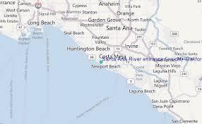 santa california map santa river entrance inside california tide station