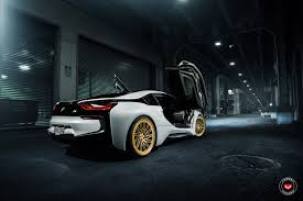 Bmw I8 Gold - a bmw i8 with gold flavored shoes by vossen black diamond mafia