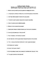 worksheet regular ir verbs in the present tense by mademoiselle