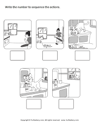 picture sequencing cat in the house worksheet turtle diary