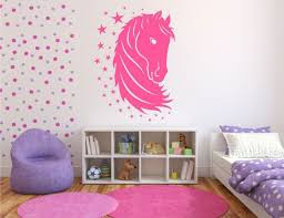 chambre fille cheval stickers cheval chambre fille stickoo