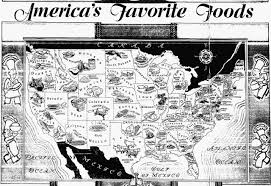 map each states favorite depression era foods circa 1933 x