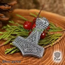 thor hammer pendant mjolnir pendant bronze thor hammer