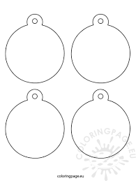 tree ornaments coloring page