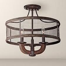 industrial semi flush mount lighting industrial flush mount close to ceiling lights ls plus