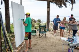People Painting by Live Event Painting Drew Brophy Surf Lifestyle Art