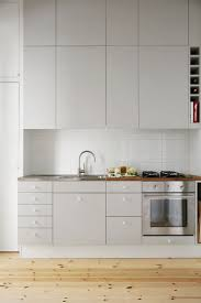 minimal kitchen design appliances without handle hanging kitchen cabinet with wooden