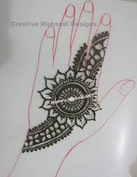 arabic flower with filler leaf henna mehndi design tutorial youtube