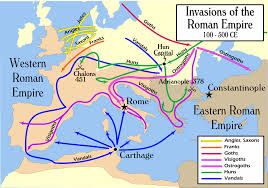 Mayan Empire Map Invasions Of The Roman Empire 100 500 Ce Map Collection