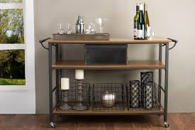 amazon com baxton studio lancashire wood and metal kitchen cart
