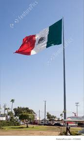 Mexixan Flag Image Of Huge Mexican Flag In Ensenada
