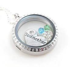 godmother necklace themed floating locket personalized birthstone necklace