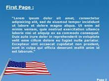 the american flag powerpoint template