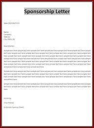 sponsorship letter 10 sample sponsor letter musician resume