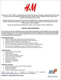Visual Merchandising Job Description For Resume by Visual Merchandising Resume Enwurf Csat Co