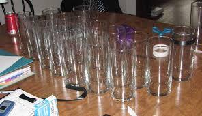 Cylinder Vases Wedding Centerpieces Mrs Taffy U0027s Cylinder Vases Wrapped In Ribbon Weddingbee Photo