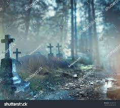 background halloween video halloween art design background foggy graveyard stock photo